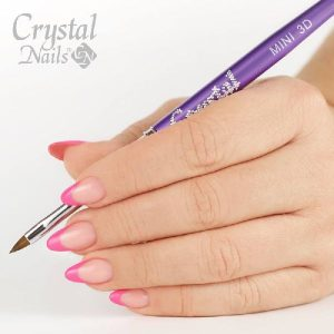 3D Mini Acryl Pinsel Pink-0