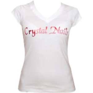 CN T-shirt White Exclusive With Metal Foil/crystal XL-0