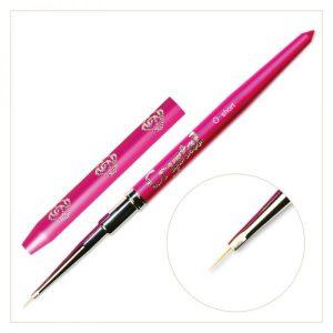 0-er Short Pinsel Pink, Metall Griff Und Kappe