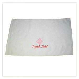 Crystal Nails Handtuch weiß mit CN StickereiCrystal Nails Handtuch weiß mit CN Stickerei