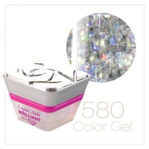 Multi Glitter Gel Silber (580)