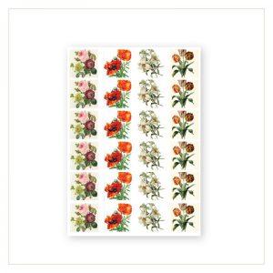 Barock Sticker - Blumen