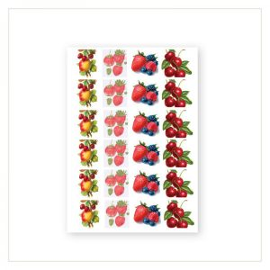 Barock Sticker - Früchte