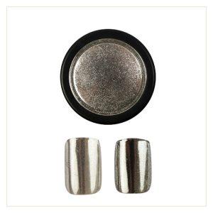 Chrome Mirror Pigment Powder, silber