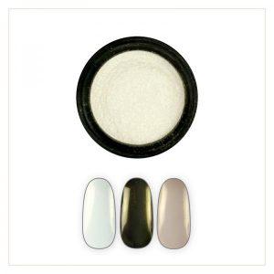 Chrome Mirror Pigment Powder, Shiny Pearl #1