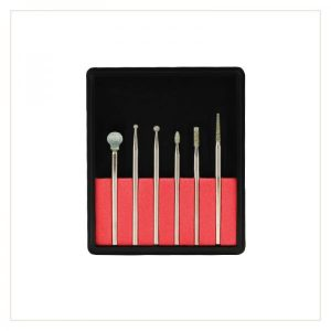 Drill bit kit for manicure dry