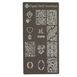 "Stamping Plate (Stempel Vorlagen) ""Sweetheart"""
