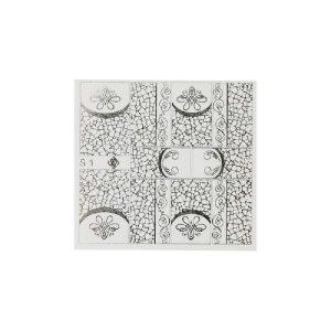 Folieneffekt Nagelaufkleber #1 - silber