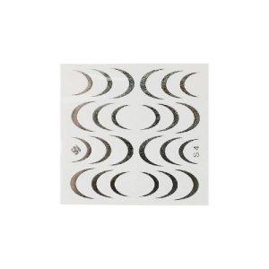 Folieneffekt Nagelaufkleber #4 - silber