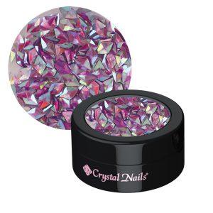 Rhombus Flitter Hologramm Violett