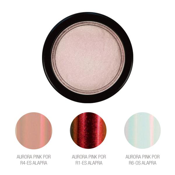 Chrome Mirror Pigment Powder, Aurora Pink